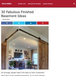 30 Fabulous Finished Basement Ideas