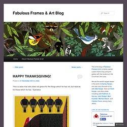 Fabulous Frames & Art Blog