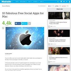 10 Fabulous Free Mac Social Apps