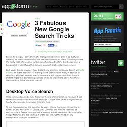 3 Fabulous New Google Search Tricks « Web.AppStorm