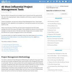 40 Fabulous Project Management Tools