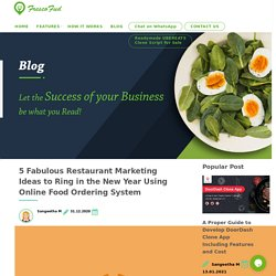 5 Fabulous Restaurant Marketing Ideas to Ring in the New Year Using Online Food Ordering System