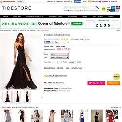 Fabulous Solid Color Dress