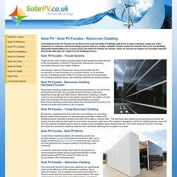 Solar PV - Solar PV Facades - Rainscreen Cladding