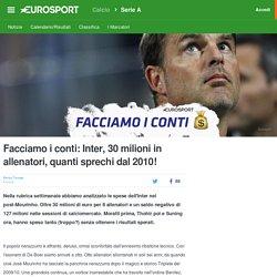 Facciamo i conti: Inter, 30 milioni in allenatori, quanti sprechi dal 2010! - Serie A 2016-2017 - Calcio