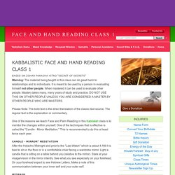 Face and Hand Reading Class 1