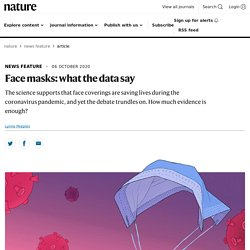 Face masks: what the data say