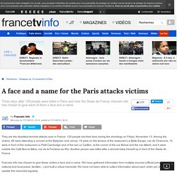 A face and a name for the Paris attacks victims