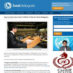How to Face Your Fear in MUN: 5 Tips for New Delegates