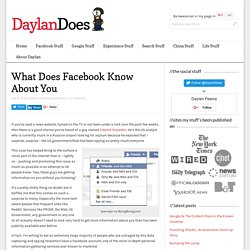 What Does Facebook Know About You : The Scary Facts