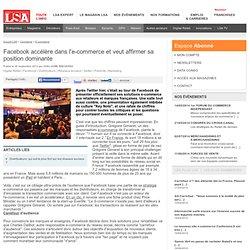 Facebook accélère dans l'e-commerce et veut
