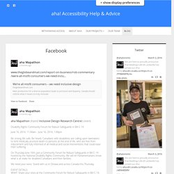 Facebook – aha! Accessibility Help & Advice