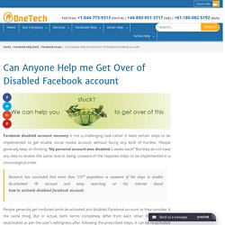 My Facebook Account is Disable How to Enable +1-844-773-9313