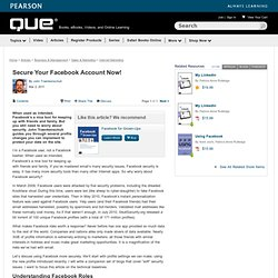Secure Your Facebook Account Now! > Understanding Facebook Roles