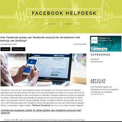 Hoe verwijder ik een Facebook-groep op het bureaublad?