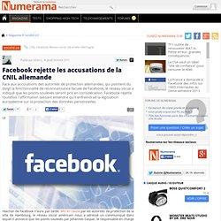 Facebook rejette les accusations de la CNIL allemande