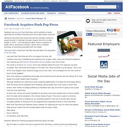Facebook Acquires Push Pop Press