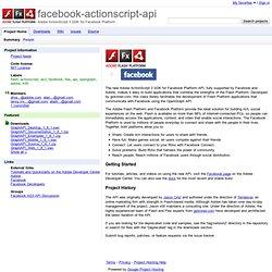 facebook-actionscript-api - Adobe ActionScript 3 SDK for Facebook Platform