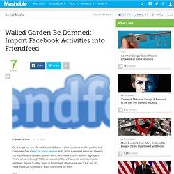 Walled Garden Be Damned: Import Facebook Activities into Friendf