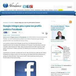 Google intègre peu à peu les profils publics Facebook - Actualit
