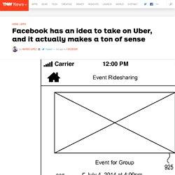 Facebook has an idea to take on Uber, and it actually makes a ton of sense