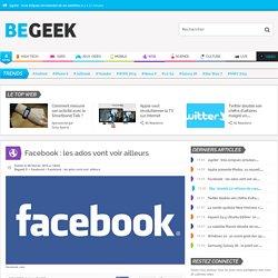 Facebook: les ados vont voir ailleurs
