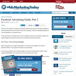 Facebook Advertising Guide, Part 2