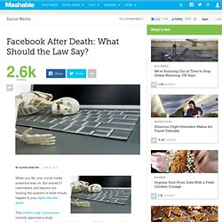 Facebook After Death: What Should the Law Say?