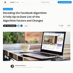 Inside the Facebook News Feed: A List of Algorithm Factors