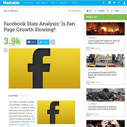Facebook Stats Analysis: Is Fan Page Growth Slowing?