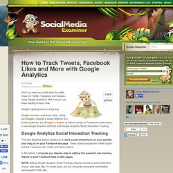 How to Track Tweets, Facebook Likes and More with Google Analytics