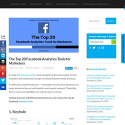 Top 20 Facebook Analytics Tools for Marketers