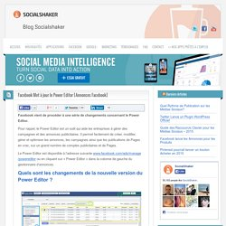 Power Editor Facebook : Analyser la promotion de vos contenus