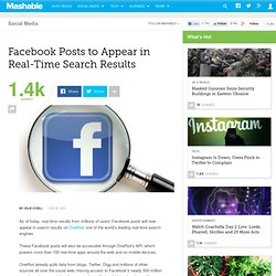 Facebook Posts to Appear in Real-Time Search Results