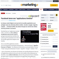 "Facebook lance ses ""applications timeline"""