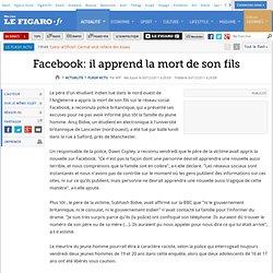 Facebook: il apprend la mort de son fils