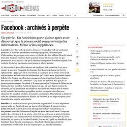 Facebook : archivés à perpète