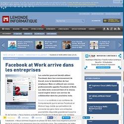 Facebook at Work arrive dans les entreprises