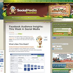 Facebook Audience Insights: This Week in Social Media