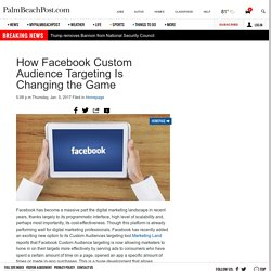 How Facebook Custom Audience Targeting Is Changing the Game