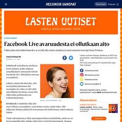 Facebook Live avaruudesta ei ollutkaan aito - Lasten uutiset
