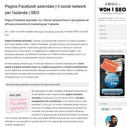 Social network: la pagina Facebook aziendale - SEO »friendly«