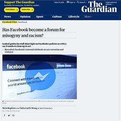 Has Facebook become a forum for misogyny and racism?