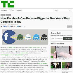 How Facebook Can Become Bigger In Five Years Than Google Is Today