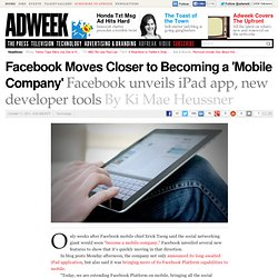 Facebook Moves Closer to Becoming a 'Mobile Company'