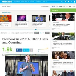 Facebook in 2012: A Billion Users and Counting - Aurora