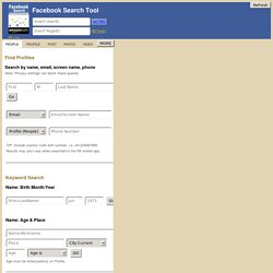 Facebook Search Tool by Bob Brasich @NetBootCamp