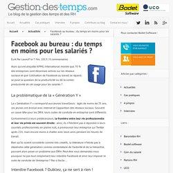 Facebook au bureau : du temps en moins pour les salariés ? -