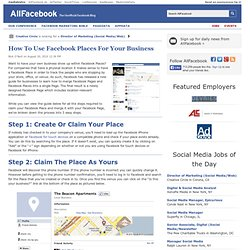 How To Use Facebook Places For Your Business
