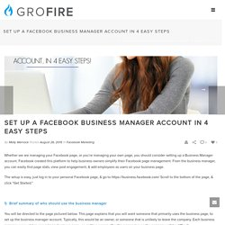 Set Up A Facebook Business Manager Account in 4 Easy Steps
